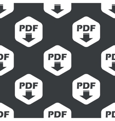 Black hexagon pdf download pattern vector