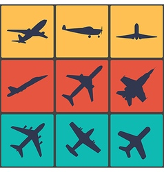 Airplane sign plane symbol vector