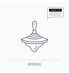 Whirligig icon baby toy sign vector