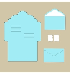 Envelope templates on grey background vector