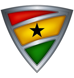Steel shield ghana vector