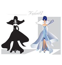 Fashion on the catwalk snow queen vector