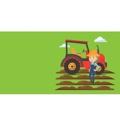 Agricultural banner with space for text vector