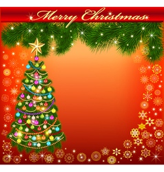 background frame with a Christmas vector image