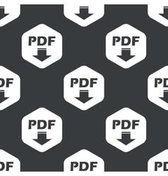 Black hexagon pdf download pattern vector