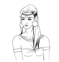 Doodle portrait of an elven princess vector image