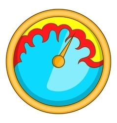 Exclusive speedometer icon cartoon style vector