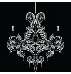 Exquisite baroque classic chandelier vector