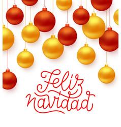 Feliz navidad greeting card design vector