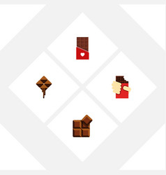 Flat icon sweet set of shaped box chocolate vector