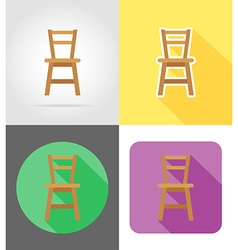 Furniture flat icons 09 vector