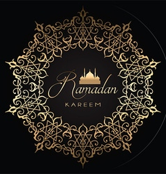 gold and black ramadan background 1005 vector image vector image