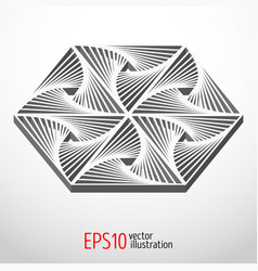 hexagonal 3d design sacral geometry mystery shape vector image vector image