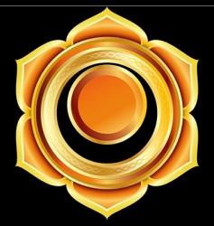 hindu chakra svadhisthana medallion vector image vector image