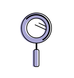 Magnifying glass instrument to analyzing vector