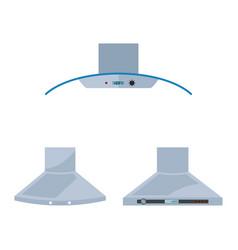 metallic cooker hood isolated on white background vector image vector image