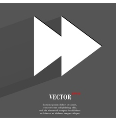 multimedia control Flat modern web button with vector image