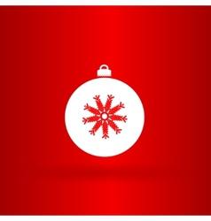 Nice christmas white ball vector image vector image