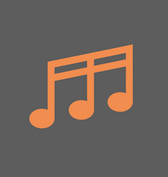 Note musical sign icon music concept vector