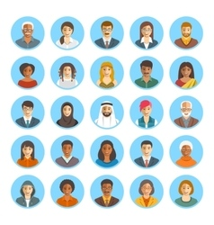 People faces avatars flat icons vector image