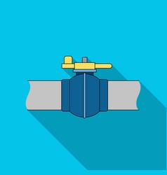 Pipeline shutteroil single icon in flat style vector
