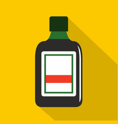 Plastic bottle icon flat style vector