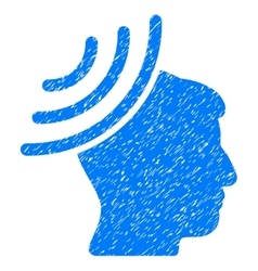 Radio reception mind grainy texture icon vector