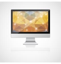 realistic monitor vector image vector image