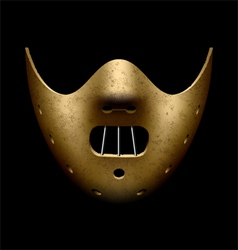 Scary Halloween mask vector image