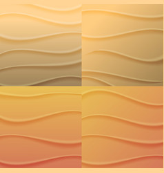 set of backgrounds waves of sand vector image