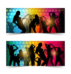 Silhouette dancing girl vector