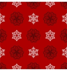 snowflake winter Christmas seamless red vector image