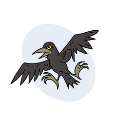 Spooky crow vector