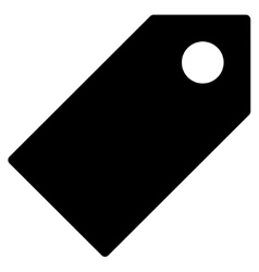 Tag flat black color icon vector