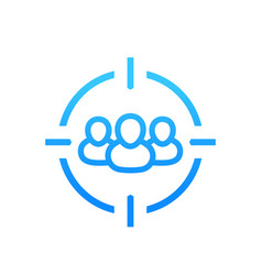 Target audience icon on white vector