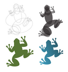 toad frog construction mark the vector image