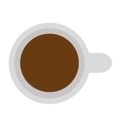 Topview coffee cup vector