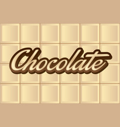 white chocolate type vector image vector image