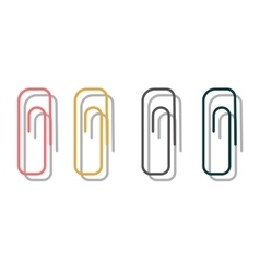 Paper clip office supply vector
