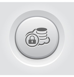 Secure cloud storage icon grey button design vector