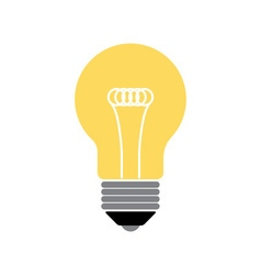 Lightbulb isolated icon pictogram vector