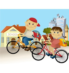 Road to school vector image