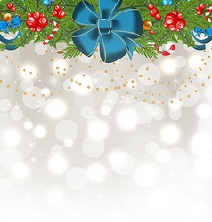 Christmas glowing background with holiday vector