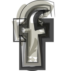 Abstract letter f vector