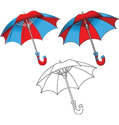 Set of umbrellas vector