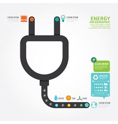 Infographics eco energy concept design diagram vector