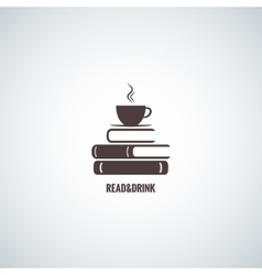 Coffee and books design background vector
