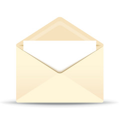 Ivory envelope vector
