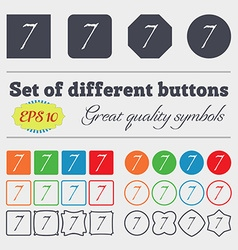 Number seven icon sign big set of colorful diverse vector