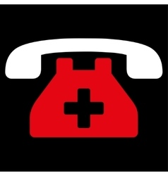 Clinic phone icon vector